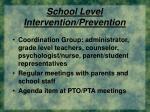 school level intervention prevention37