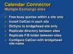 calendar connector multiple exchange sites