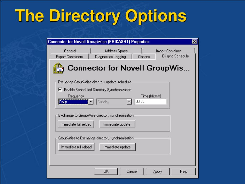 The Directory Options
