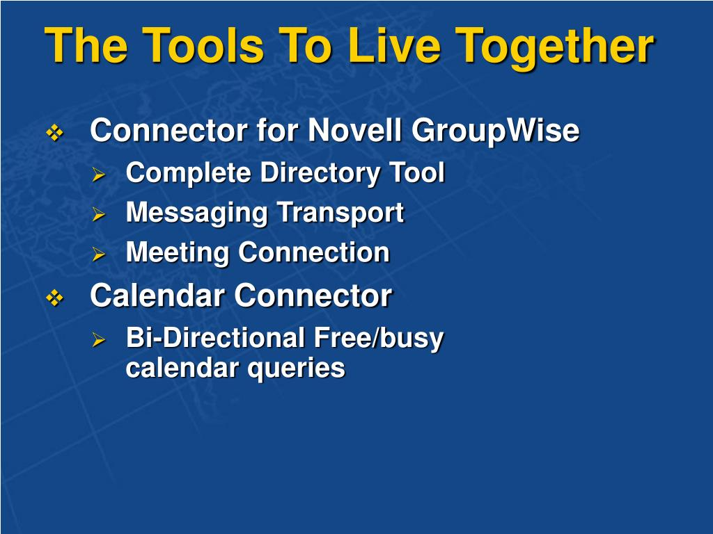 The Tools To Live Together