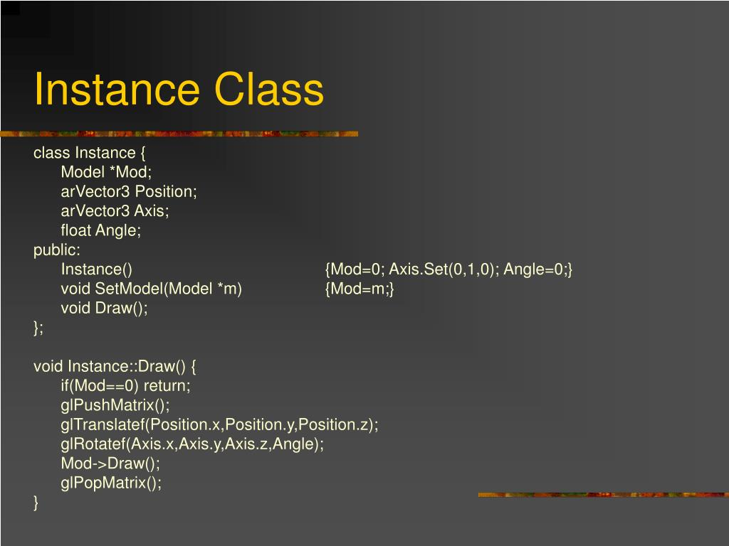 Instance Class