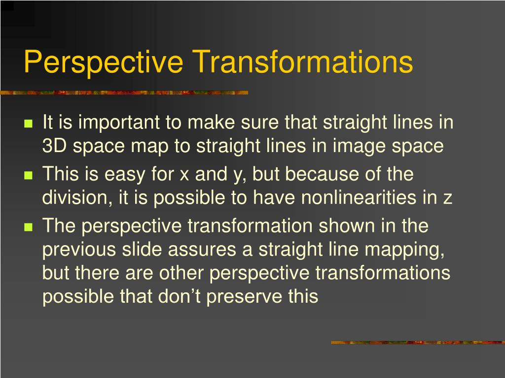 Perspective Transformations