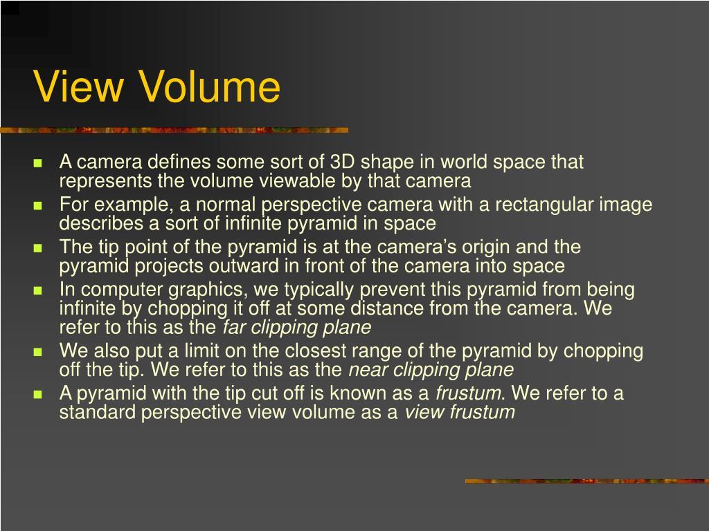 View Volume