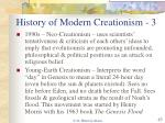 history of modern creationism 3
