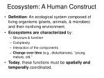 ecosystem a human construct