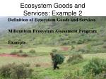 ecosystem goods and services example 2
