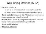 well being defined mea