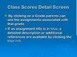 class scores detail screen