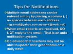 tips for notifications