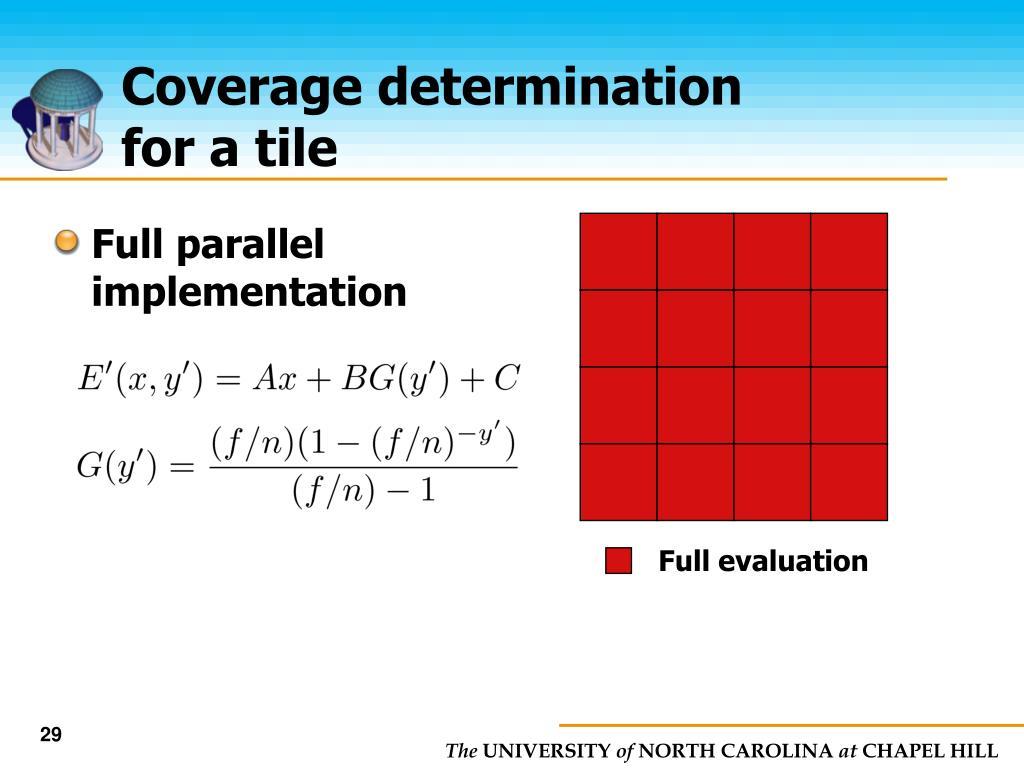 Full parallel implementation