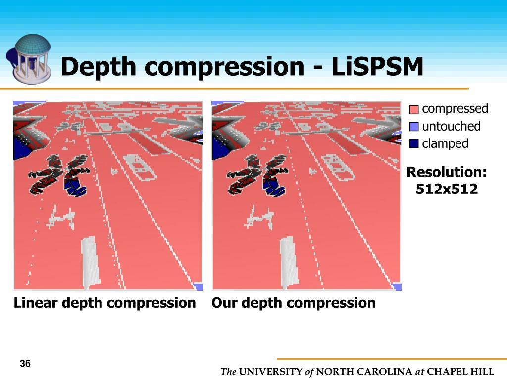 Depth compression - LiSPSM