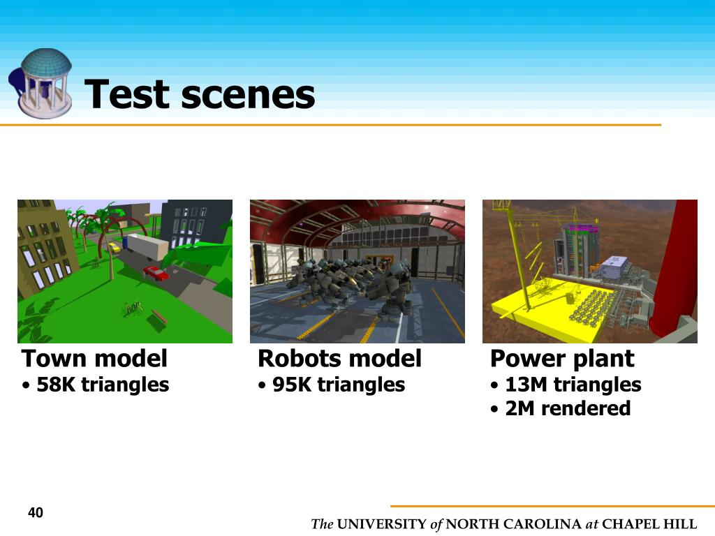Test scenes
