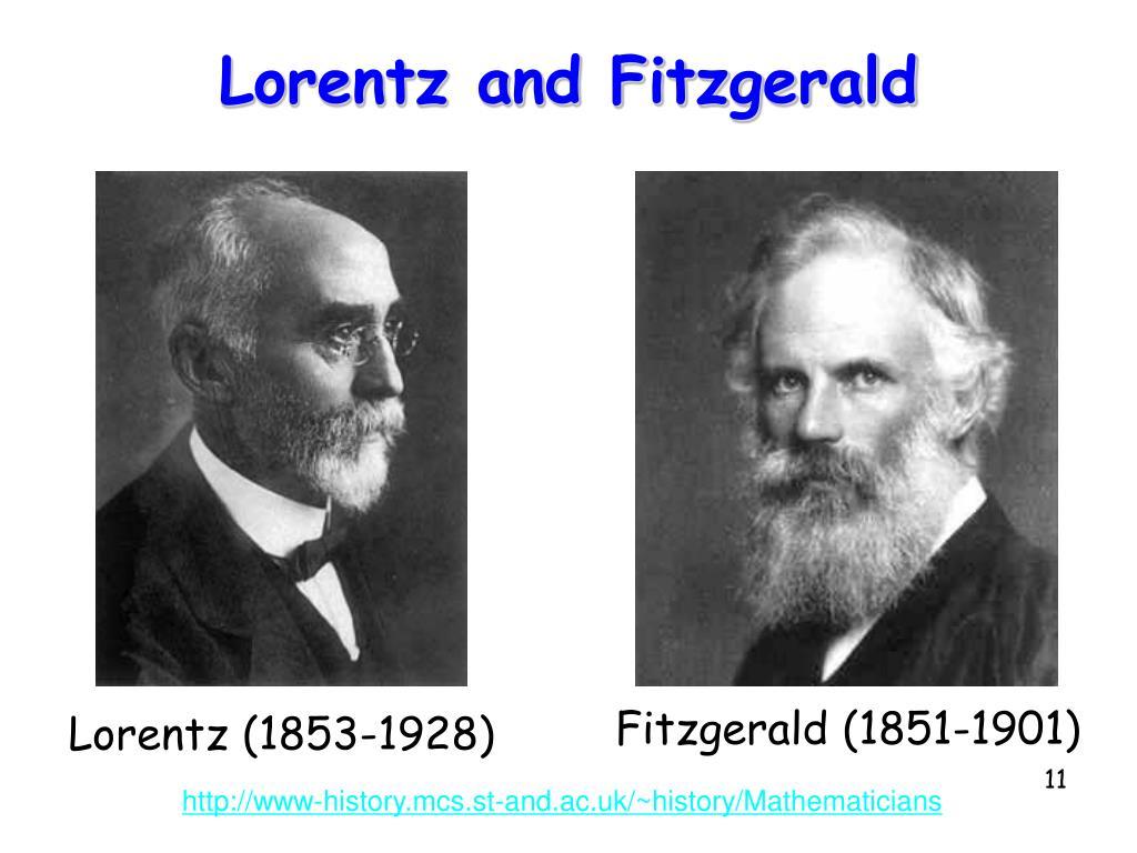 Lorentz and Fitzgerald