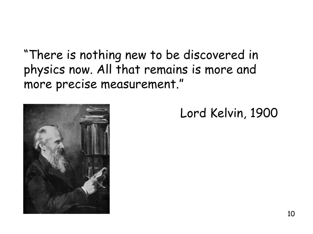 """""""There is nothing new to be discovered in"""