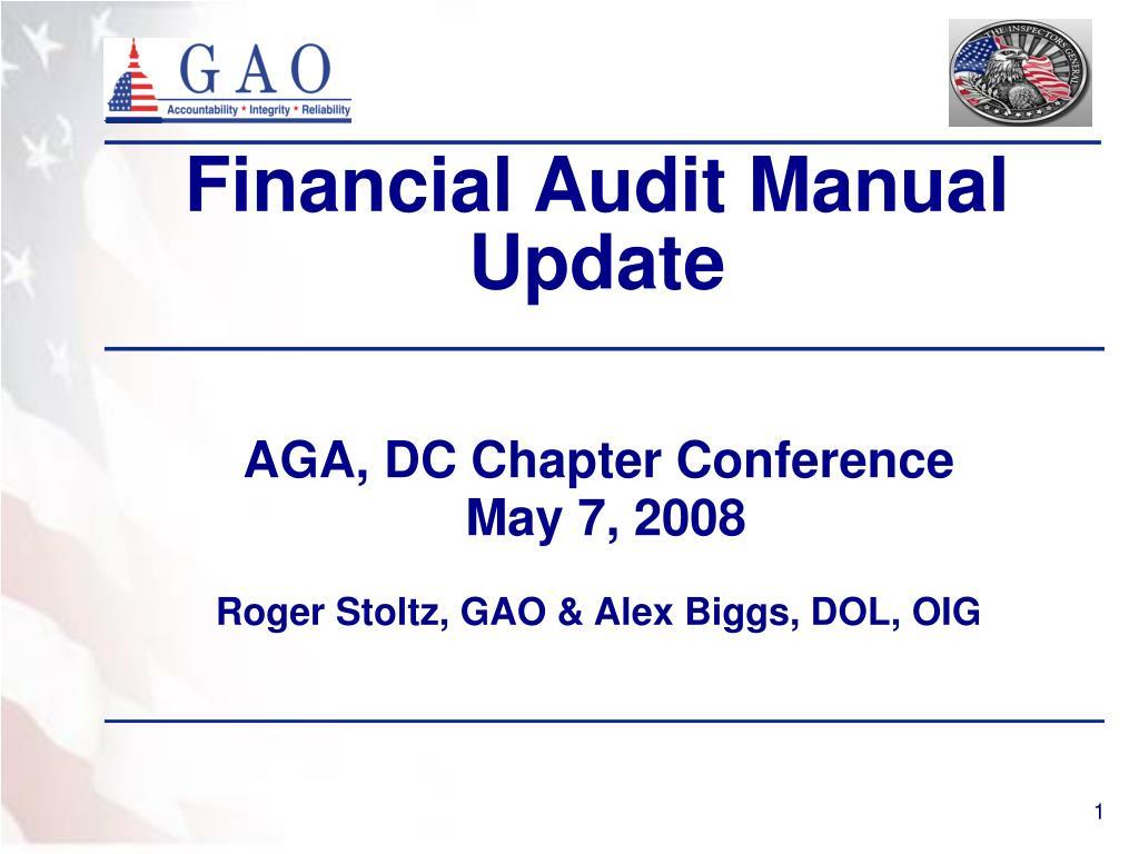 financial audit manual update l.