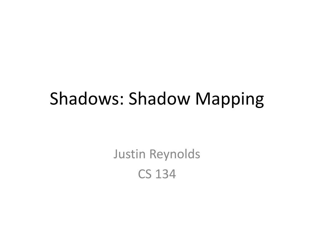 shadows shadow mapping l.