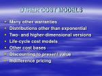 other cost models