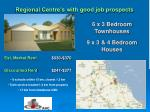 regional centre s with good job prospects