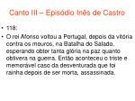 canto iii epis dio in s de castro53