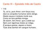 canto iii epis dio in s de castro54