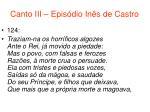 canto iii epis dio in s de castro63