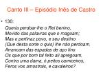 canto iii epis dio in s de castro71