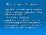 services in public hospitals