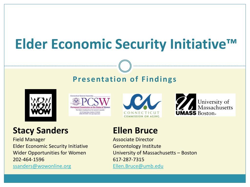 elder economic security initiative l.