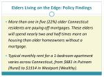elders living on the edge policy findings17