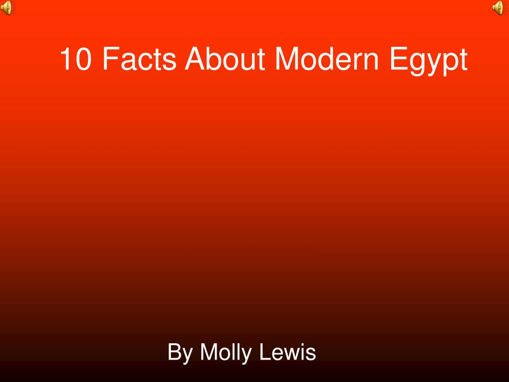10 facts about modern egypt l.
