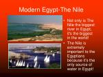 modern egypt the nile