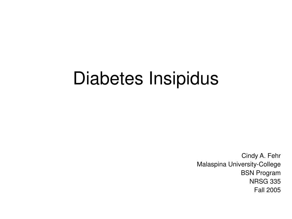 diabetes insipidus l.