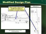 modified design plan