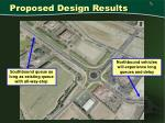 proposed design results