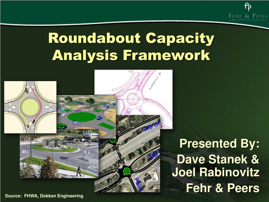 roundabout capacity analysis framework l.