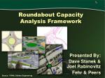 roundabout capacity analysis framework