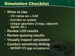 simulation checklist