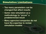 simulation limitations