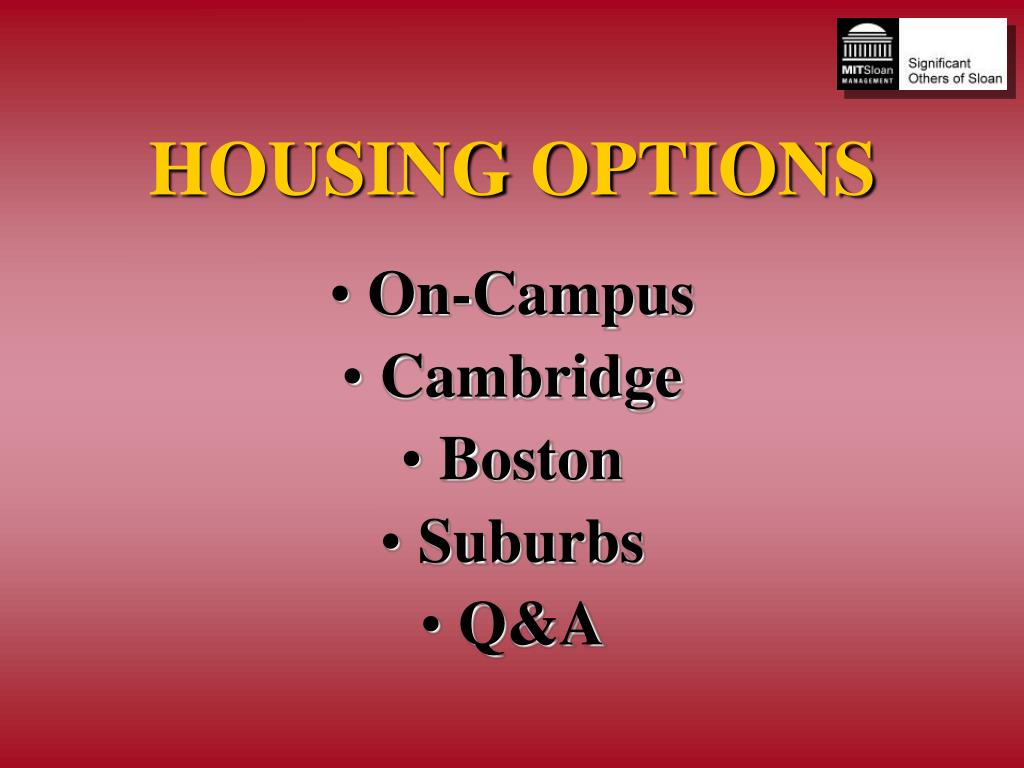 housing options l.
