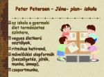 peter petersen j na plan iskola