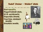 rudolf steiner waldorf iskola