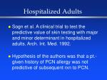 hospitalized adults