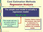 cost estimation methods regression analysis46
