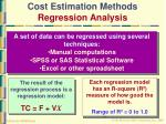 cost estimation methods regression analysis47