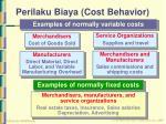 perilaku biaya cost behavior