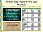 simple regression analysis example49