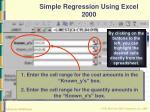 simple regression using excel 200052