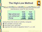 the high low method