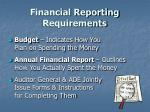 financial reporting requirements4