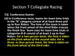 section 7 collegiate racing